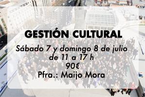 Gestión cultural, con Maijo Mora en La Piscifactoría, Madrid.